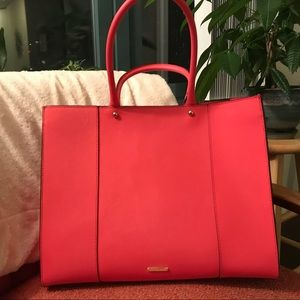 Rebecca Minkoff Bright Pink Leather MAB Tote